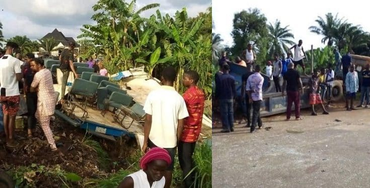 Four family members who died in a fatal accident at Anambra